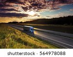 truck on the road | Shutterstock . vector #564978088