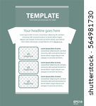 newsletter corporate vector... | Shutterstock .eps vector #564981730