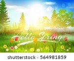 spring. | Shutterstock .eps vector #564981859