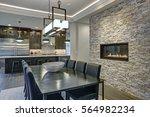 modern open floor plan dining... | Shutterstock . vector #564982234