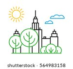 vector city moscow illustration ... | Shutterstock .eps vector #564983158