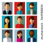 people avatar over colorful... | Shutterstock .eps vector #564988834