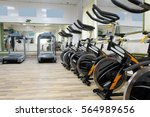 fitness hall with the sport... | Shutterstock . vector #564989656