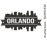 orlando skyline stamp city... | Shutterstock .eps vector #564991930