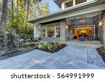luxurious new construction home ... | Shutterstock . vector #564991999
