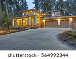 luxurious new construction home ... | Shutterstock . vector #564992344