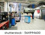 interior of a car repair... | Shutterstock . vector #564994600
