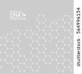 abstract dna background. vector ... | Shutterstock .eps vector #564996154