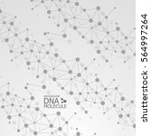 abstract dna background. vector ... | Shutterstock .eps vector #564997264