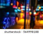 display of stock market quotes... | Shutterstock . vector #564998188