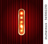 realistic retro gold lamp bulb... | Shutterstock .eps vector #565002250