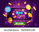 online big slots casino... | Shutterstock .eps vector #565005130