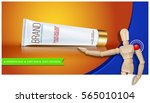 pain relief ointment horizontal ... | Shutterstock .eps vector #565010104