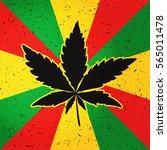 cannabis leaf on grunge...   Shutterstock .eps vector #565011478