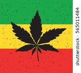 cannabis leaf on grunge...   Shutterstock .eps vector #565011484
