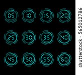 digital countdown timer with... | Shutterstock .eps vector #565012786