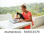 summer lifestyle portrait of...   Shutterstock . vector #565013170