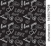 seamless pattern of hearts and... | Shutterstock .eps vector #565017928