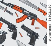 military and terrorist weapon... | Shutterstock .eps vector #565021150