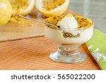 passion fruit mousse | Shutterstock . vector #565022200