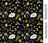 doodle sketchy rustic space.... | Shutterstock .eps vector #565033270