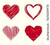 heart line | Shutterstock . vector #565035970