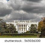 the white house in washington... | Shutterstock . vector #565036330