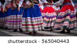 traditional dress carnival in... | Shutterstock . vector #565040443