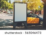 white billboard with copy space ... | Shutterstock . vector #565046473