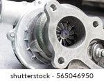new turbocharger car engine on... | Shutterstock . vector #565046950