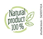 round label green stamp ... | Shutterstock .eps vector #565057414