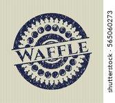 blue waffle distress rubber... | Shutterstock .eps vector #565060273