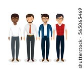 teamwork business people icon | Shutterstock .eps vector #565065469