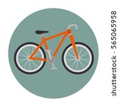bicycle vehicle isolated icon   Shutterstock .eps vector #565065958