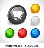 color 3d buttons for web. vector | Shutterstock .eps vector #56507326