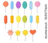 balloons vector set. | Shutterstock .eps vector #565077664