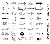 vector illustration of arrow... | Shutterstock .eps vector #565077670
