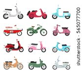 retro vector scooter...