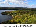 beautiful fall season in canada ... | Shutterstock . vector #565082680