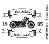 american motorcycle. logo ... | Shutterstock .eps vector #565085860