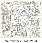 notebook doodle speech bubble... | Shutterstock .eps vector #56509123
