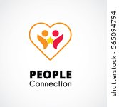 abstract people logo template ... | Shutterstock .eps vector #565094794