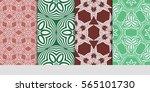 set of floral ornament.... | Shutterstock .eps vector #565101730