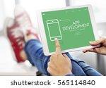 technology app development... | Shutterstock . vector #565114840