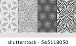 set of floral pattern of... | Shutterstock .eps vector #565118050