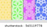 set of seamless lace floral... | Shutterstock .eps vector #565119778