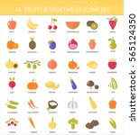 vegetables and fruits color... | Shutterstock . vector #565124350