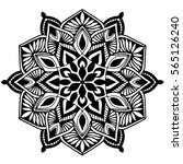 mandalas for coloring book.... | Shutterstock .eps vector #565126240