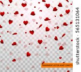 red heart vector confetti of... | Shutterstock .eps vector #565131064