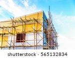 building paint  scaffolding | Shutterstock . vector #565132834